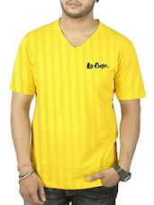 yellow cotton tshirt -  online shopping for T-Shirts