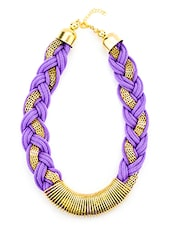 Purple Metal Other Necklace - By