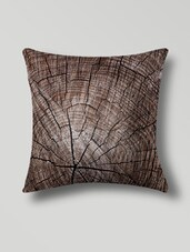 Brown Polyester Digital Printed Cushion Cover - By