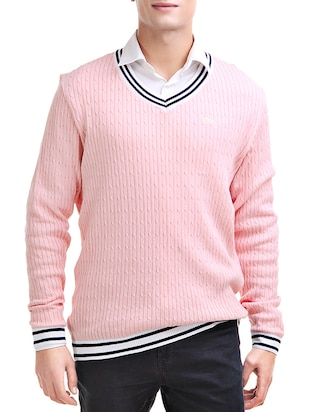 pink cotton pullover -  online shopping for Pullovers