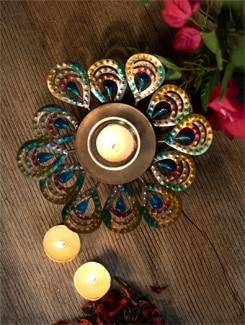 Peacock Pillar Plate - Malhar