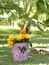 Pink Bee Planters (Set Of 3) - By