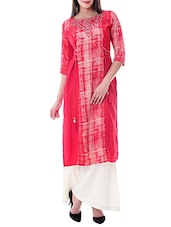 red rayon kurta -  online shopping for kurtas