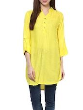 Yellow Rayon Straight Kurta - By