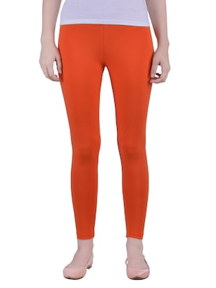 orange Cotton Lycra Ankle Length Legging -  online shopping for Leggings