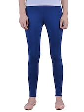 blue Cotton Lycra Ankle Length Legging -  online shopping for Leggings