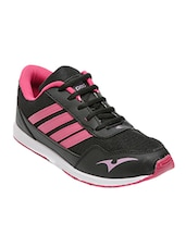 black fabric lace up sports shoes -  online shopping for Sports Shoes