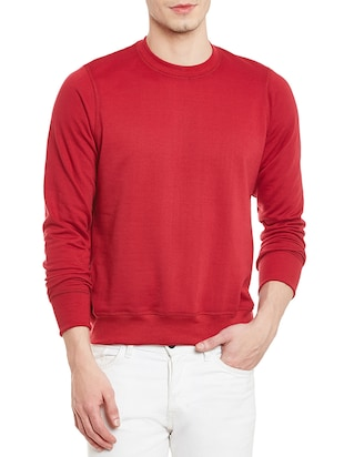 red cotton pullover -  online shopping for Pullovers