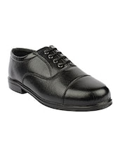 black Leatherette lace up oxford -  online shopping for Oxfords