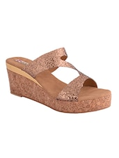 gold leatherette wedges -  online shopping for wedges