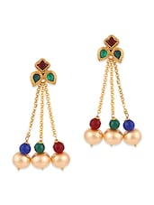 gold copper chandballi earring -  online shopping for earrings
