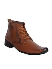 brown Leather Low ankle boot -  online shopping for Boots