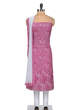 Pink Unstitched Chikankari Suit Set - By