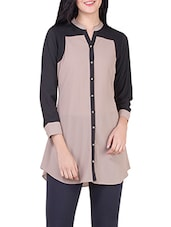beige georgette regular shirt -  online shopping for Shirts