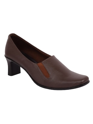 brown pu slip on formal shoes -  online shopping for formal shoes