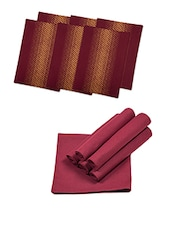 Set Of 12 Placemate With Napkins - By - 12820740