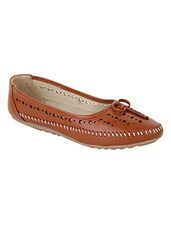tan leather slip on ballerina -  online shopping for ballerina