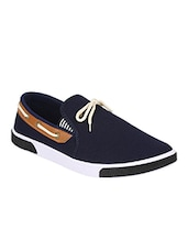 blue Canvas slip on shoe -  online shopping for Shoes