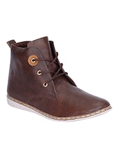 brown lace up ankle boot -  online shopping for Boots