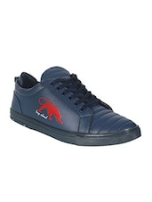 navy Leatherette lace up shoe -  online shopping for Shoes
