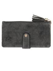 Black Leatherette Sling Bag - By
