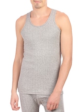grey cotton thermal top -  online shopping for Thermal Tops