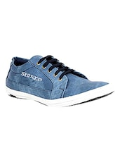 blue synthetic lace up shoes -  online shopping for Shoes