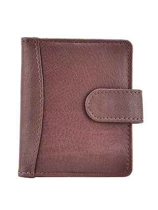 brown leatherette card holder -  online shopping for Wallets