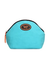 Sky Blue Cotton Canvas Pouch - By