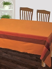 Dhrohar Hand Woven Cotton Table Cover For 6 Seater Table - Yellow - By