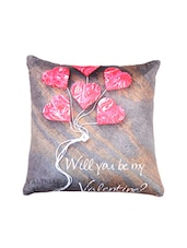 Heart Print For Valentine Special Cushion Cover . - By
