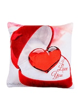 3 D Classy Heart Print For Valentine Special Cushion Cover . - By