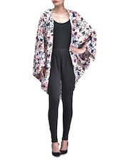 Multicolored Polyester Printed Floral Shrug - By