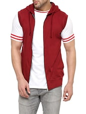 maroon cotton casual jacket -  online shopping for Casual Jacket