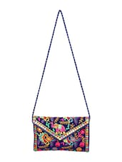 purple cotton clutch -  online shopping for clutches