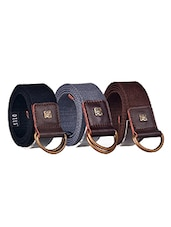 Pack Of 3 Multi Colored Canvas Belt - By - 12890394