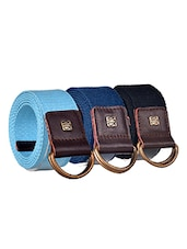 Pack Of 3 Multi Colored Canvas Belt - By - 12890400