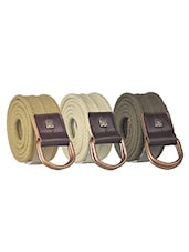 Pack Of 3 Multi Colored Canvas Belt - By - 12890490