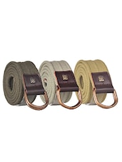 Pack Of 3 Multi Colored Canvas Belt - By - 12890493