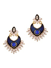 Blue Pearl Studded Earrings - By
