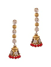 Red Studded Earrings -  online shopping for Sets