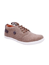 brown Canvas lace up shoe -  online shopping for Shoes