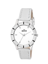 WHITE Round Shape White Dial Analog Watch -  online shopping for Wrist watches