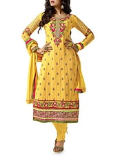 Yellow Eshani Chiffon Embroidered Suit - By