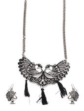 grey metal necklaces and earring -  online shopping for Necklaces and Earrings