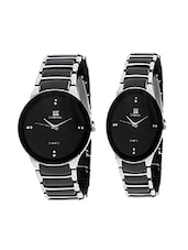 stainless steel round dail couple watch -  online shopping for Wrist watches