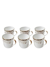Set Of 6 White Coffee Mugs - By - 1291146