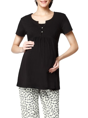 black cotton maternity wear -  online shopping for maternity wear