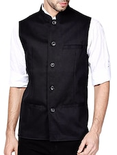 black viscose waist coat -  online shopping for Waist coat