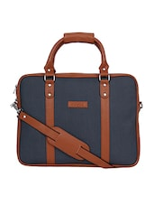 blue leatherette laptop bag -  online shopping for Bags